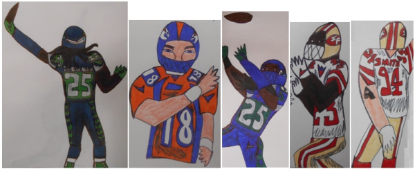 Richard Sherman, Peyton Manning, LaMichael James, Justin Smith par armattock